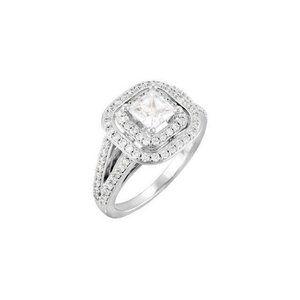 2.31 cts. Princess center diamond wedding annivers